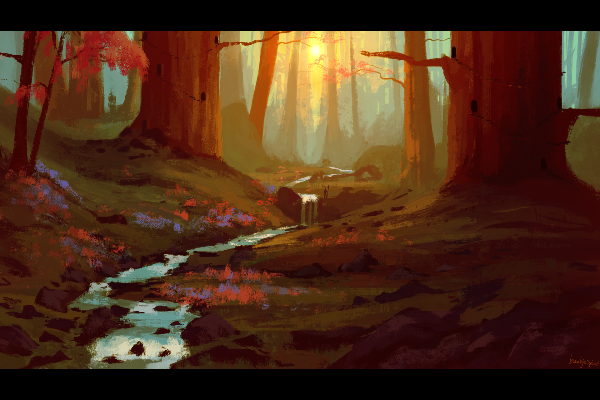 Forest speedpainting