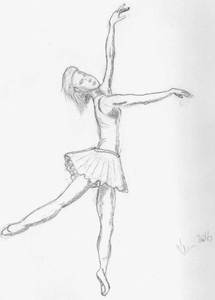 Quick sketch of a ballerina.