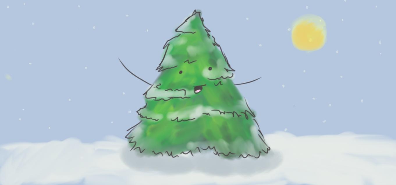 Happy Snowy Tree