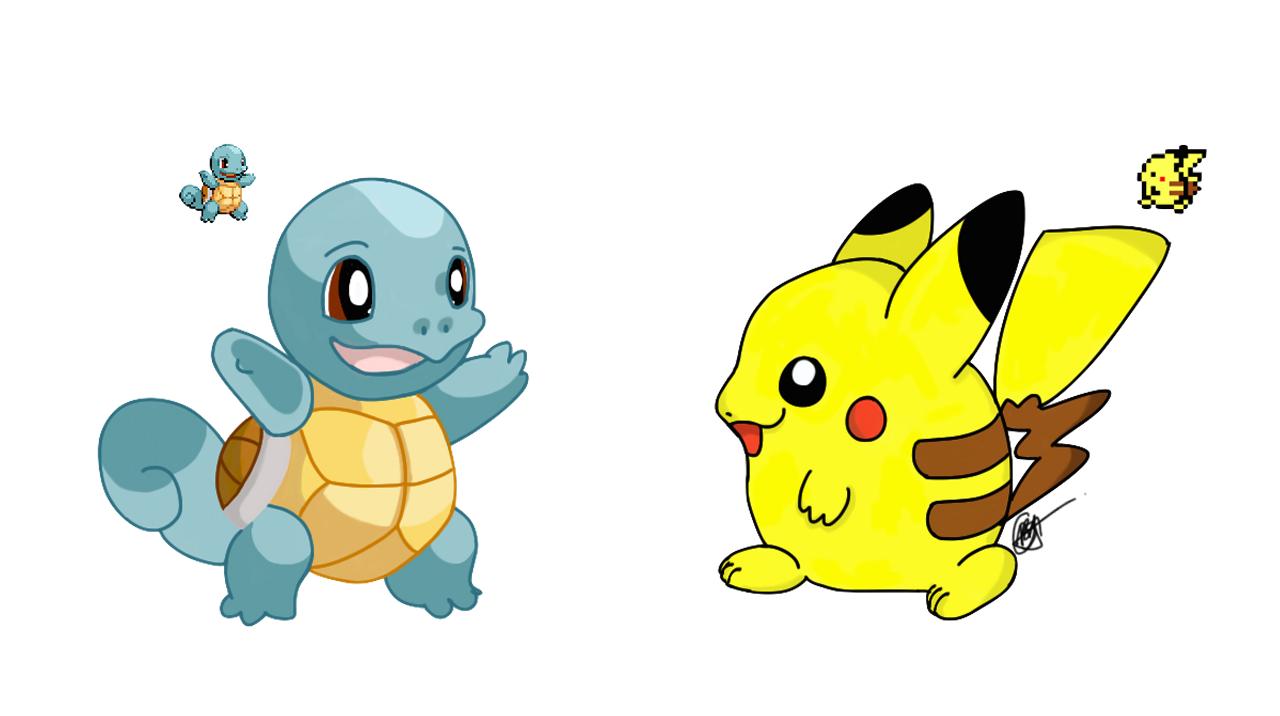 Best Friends, Squirtle & Pikachu