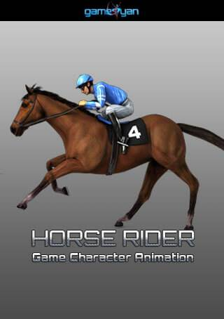 Horse Rider Quadruped Character Animation