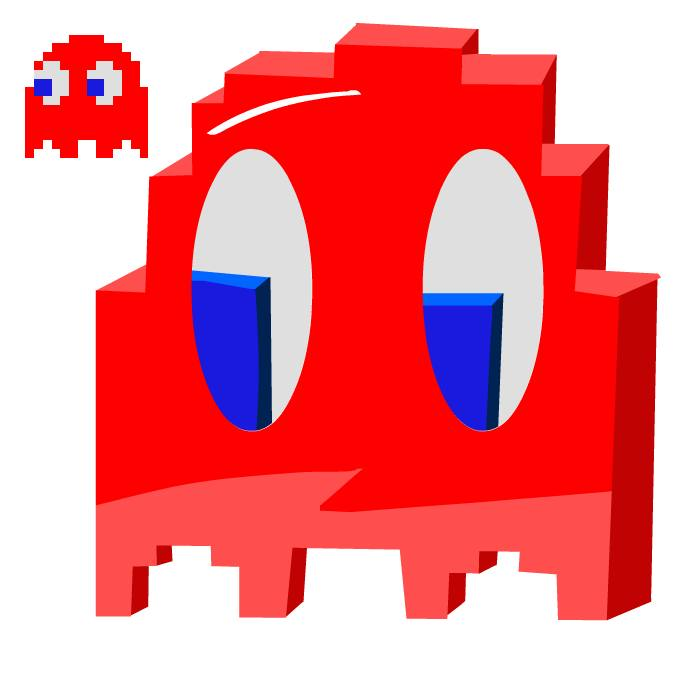 New Resolution Pac man Ghost Red