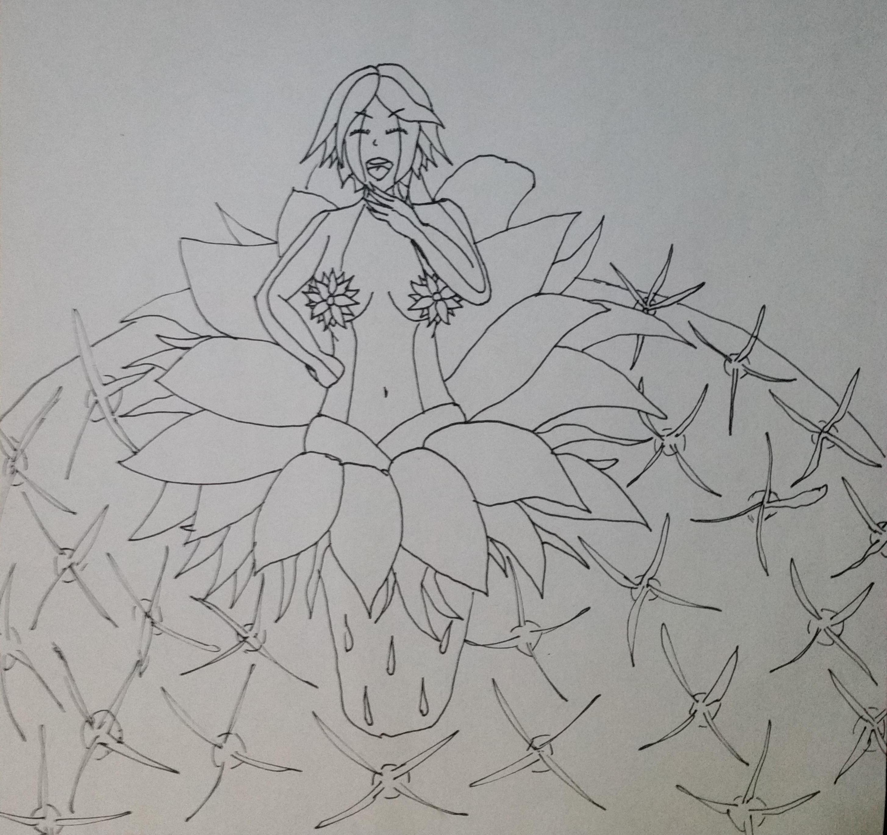 Smug Cactus Girl