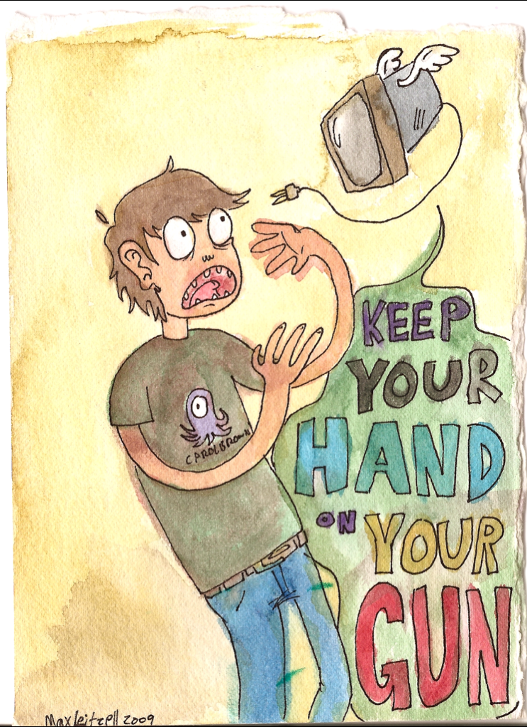 keep your hand on your gun