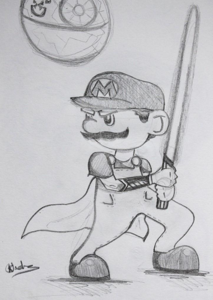 Jedi Mario Sketch