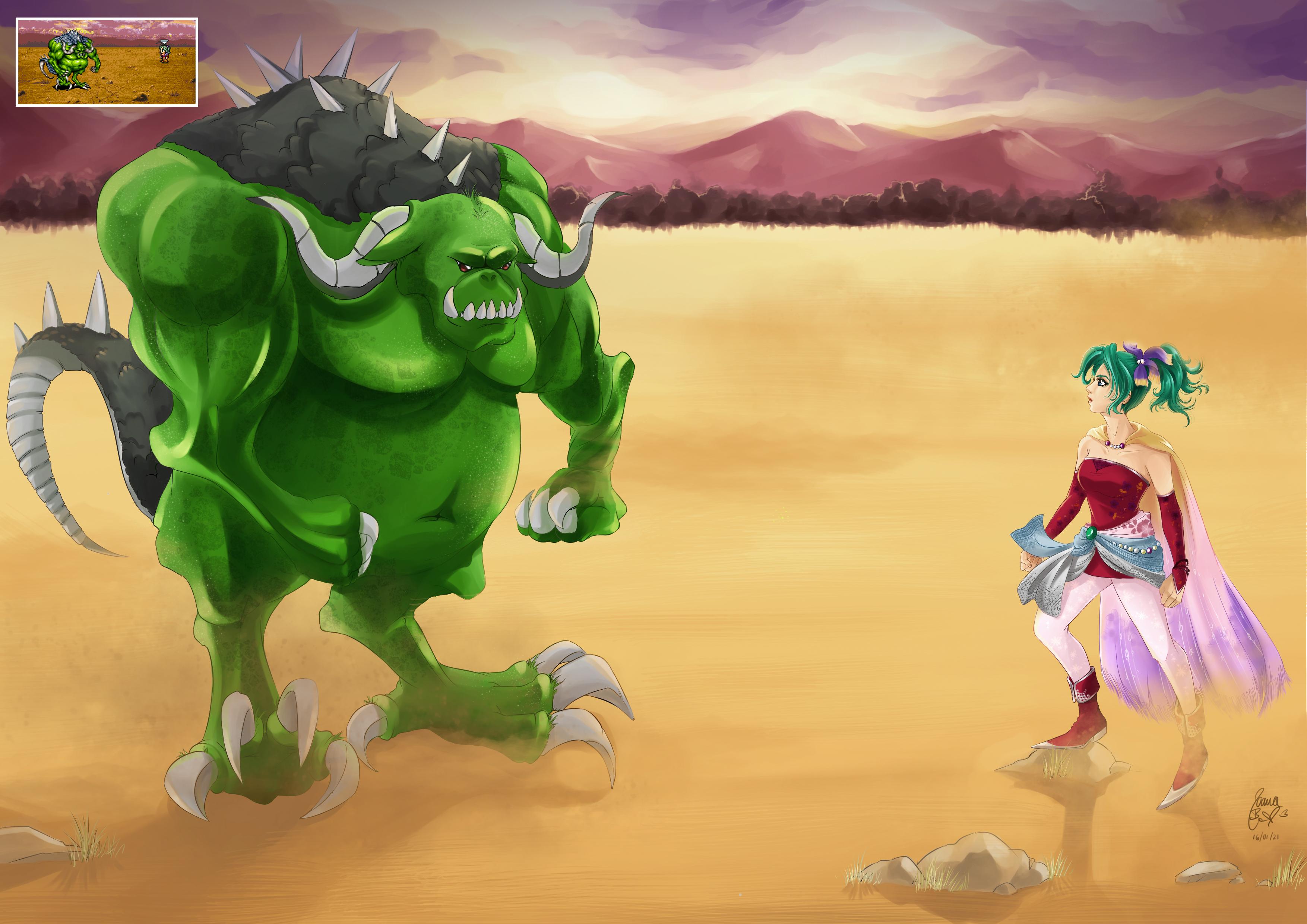 Final Fantasy VI - Terra Branford in Battle