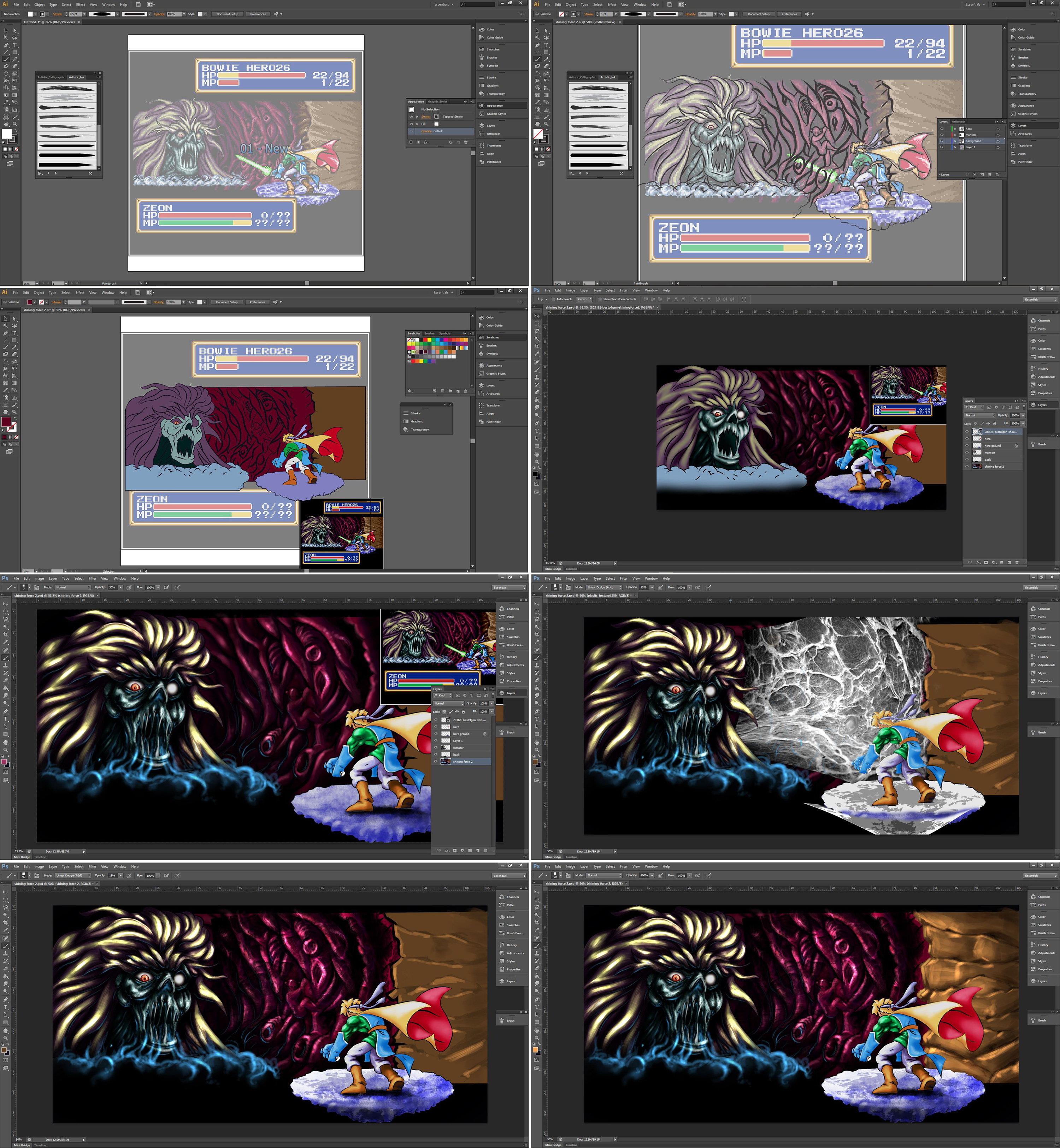 Shining Force 2 creation process