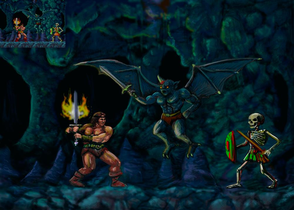 Rastan in the Cave