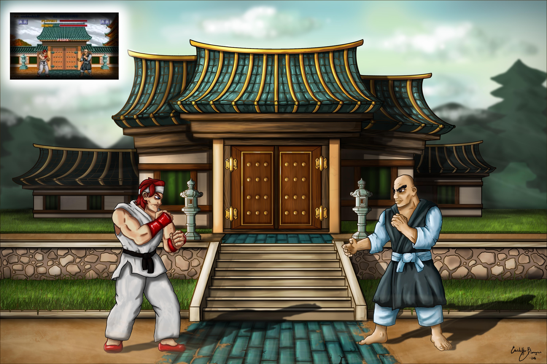 Street Fighter 1 (1987) New Resolution