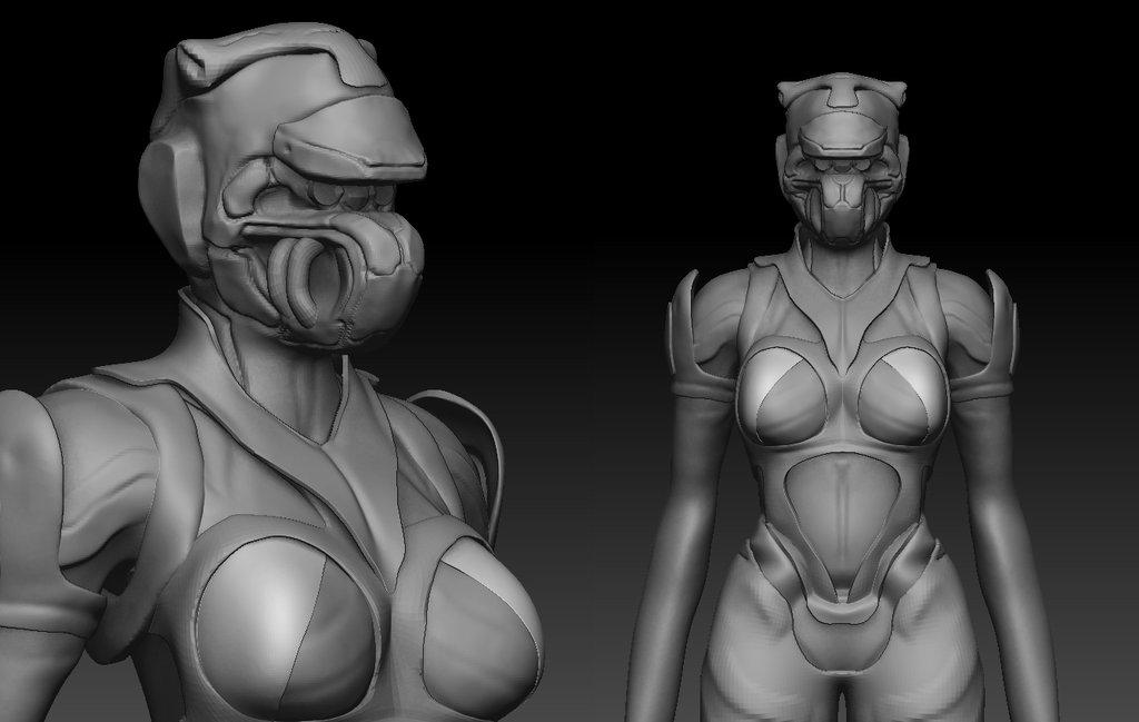 Female Alien design