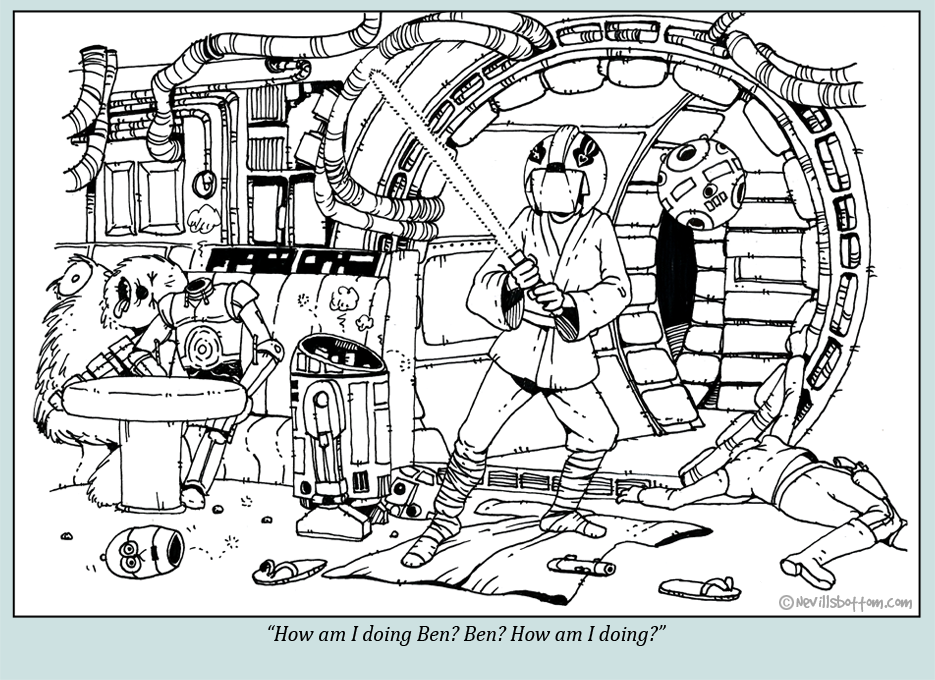 Luke uses the Force