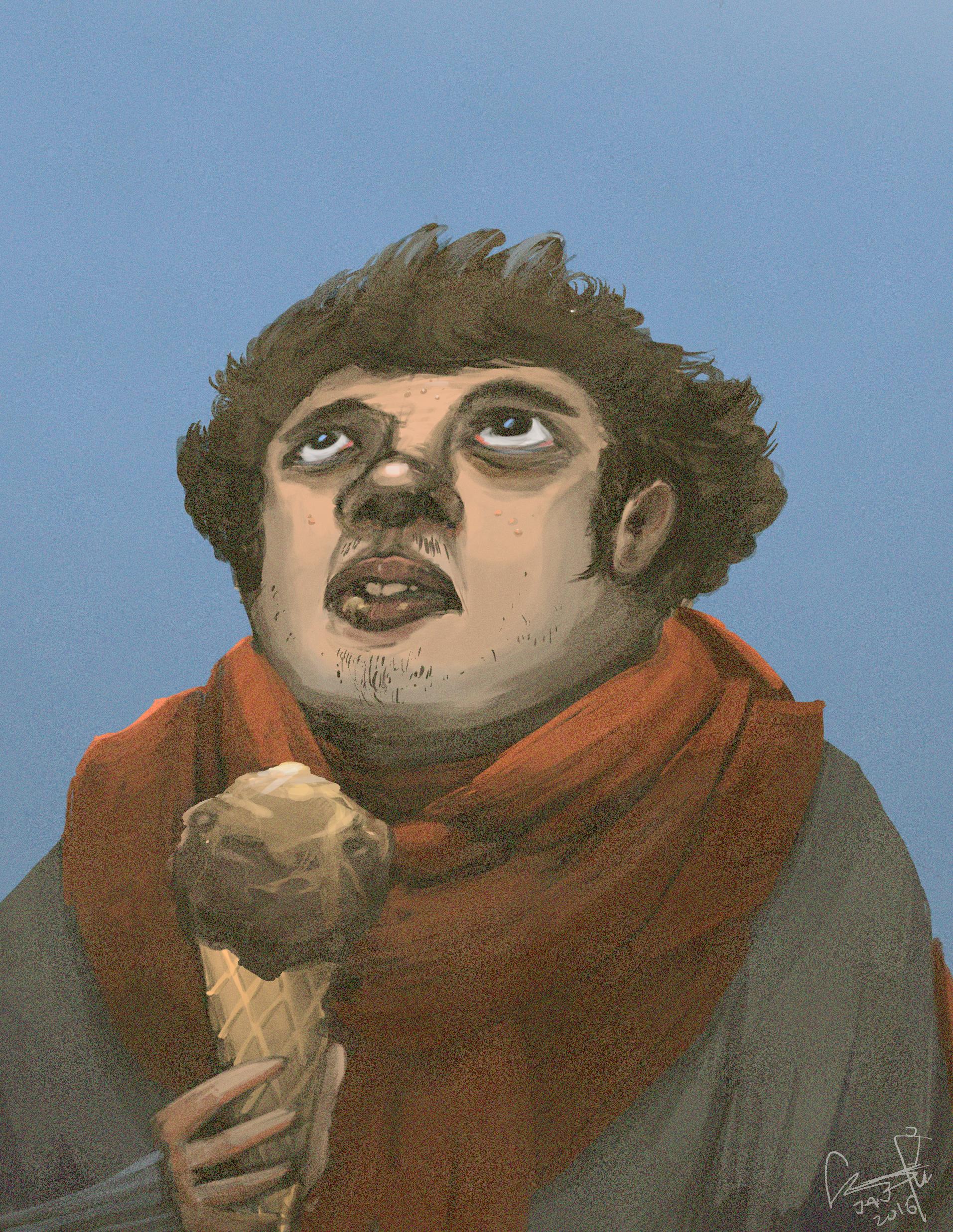 Unflattering Self portrait