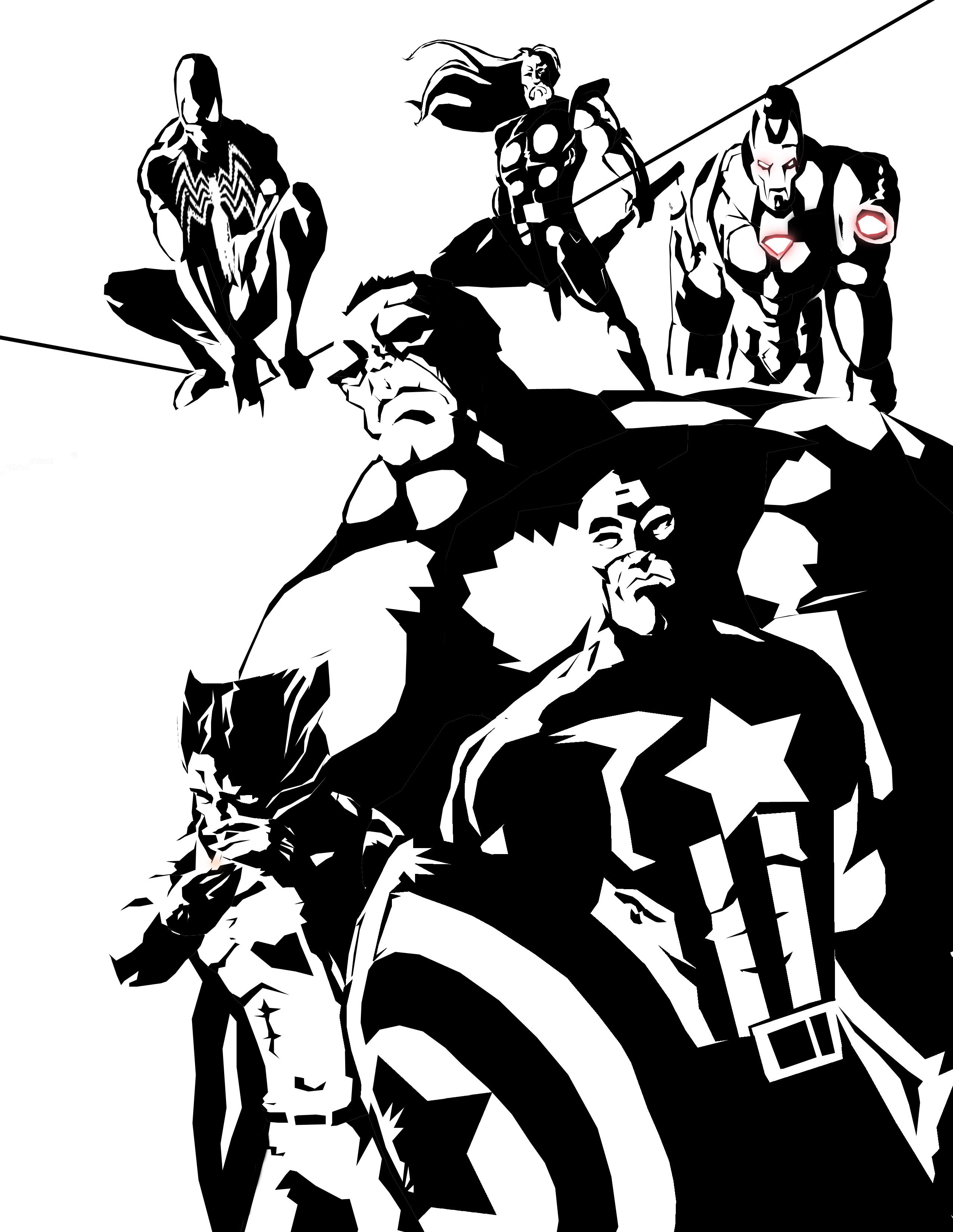 Avengers BW