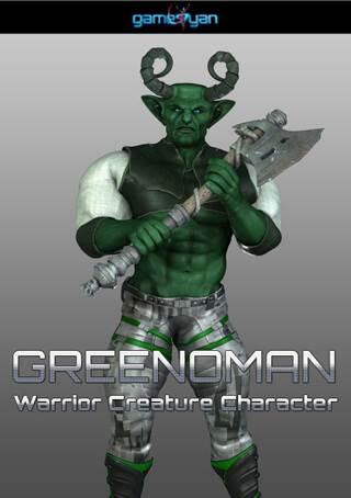 Greenman Warrior Character Modeling