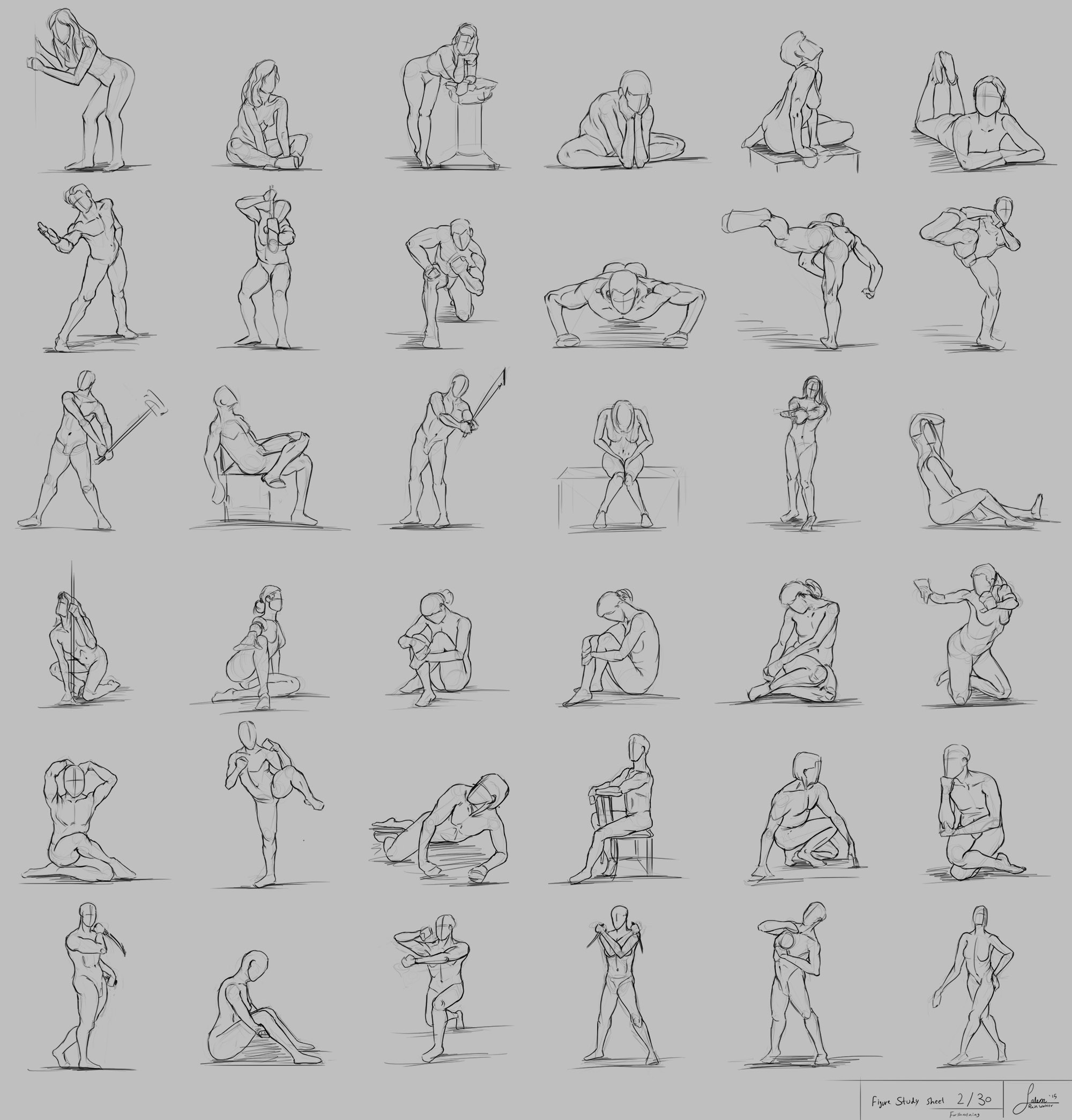 """Figure Drawing Part 2/30 """"Foreshortening """""""