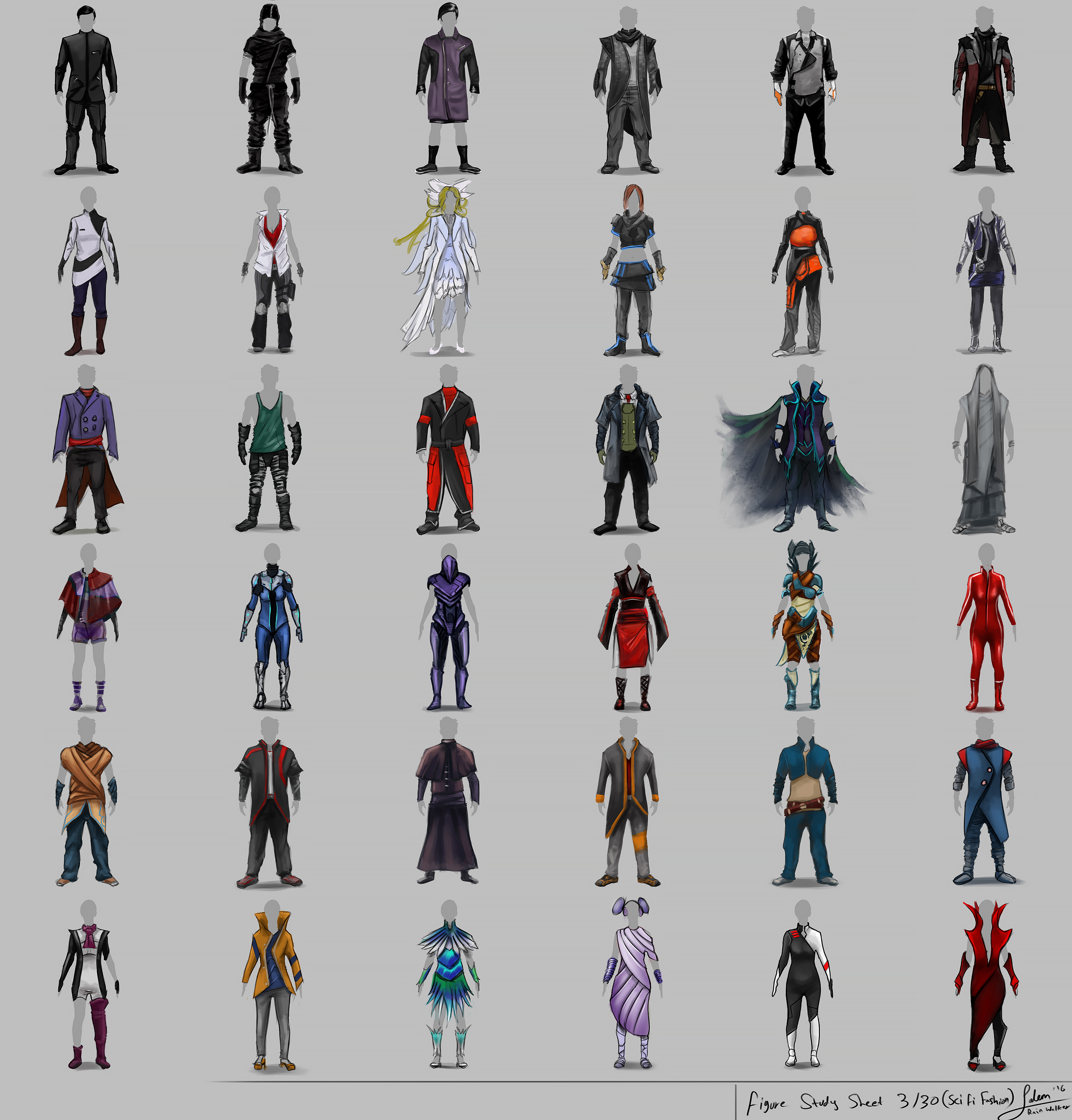"Figure Drawing Part 3/30 ""Sci Fi Fashion"""