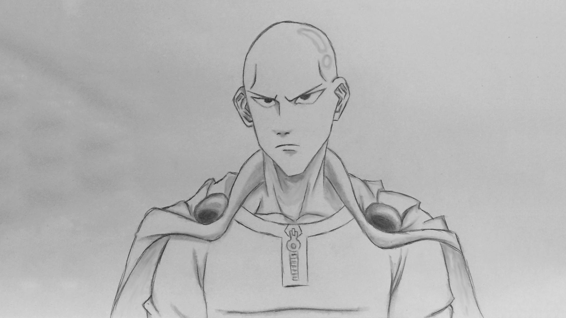Drawing Saitama from One Punch Man (Wanpanman) ~ Savage Draws
