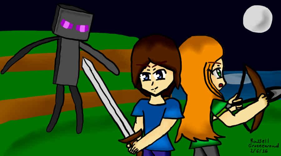 Minecraft: Steve & Alex (Fan-Art)