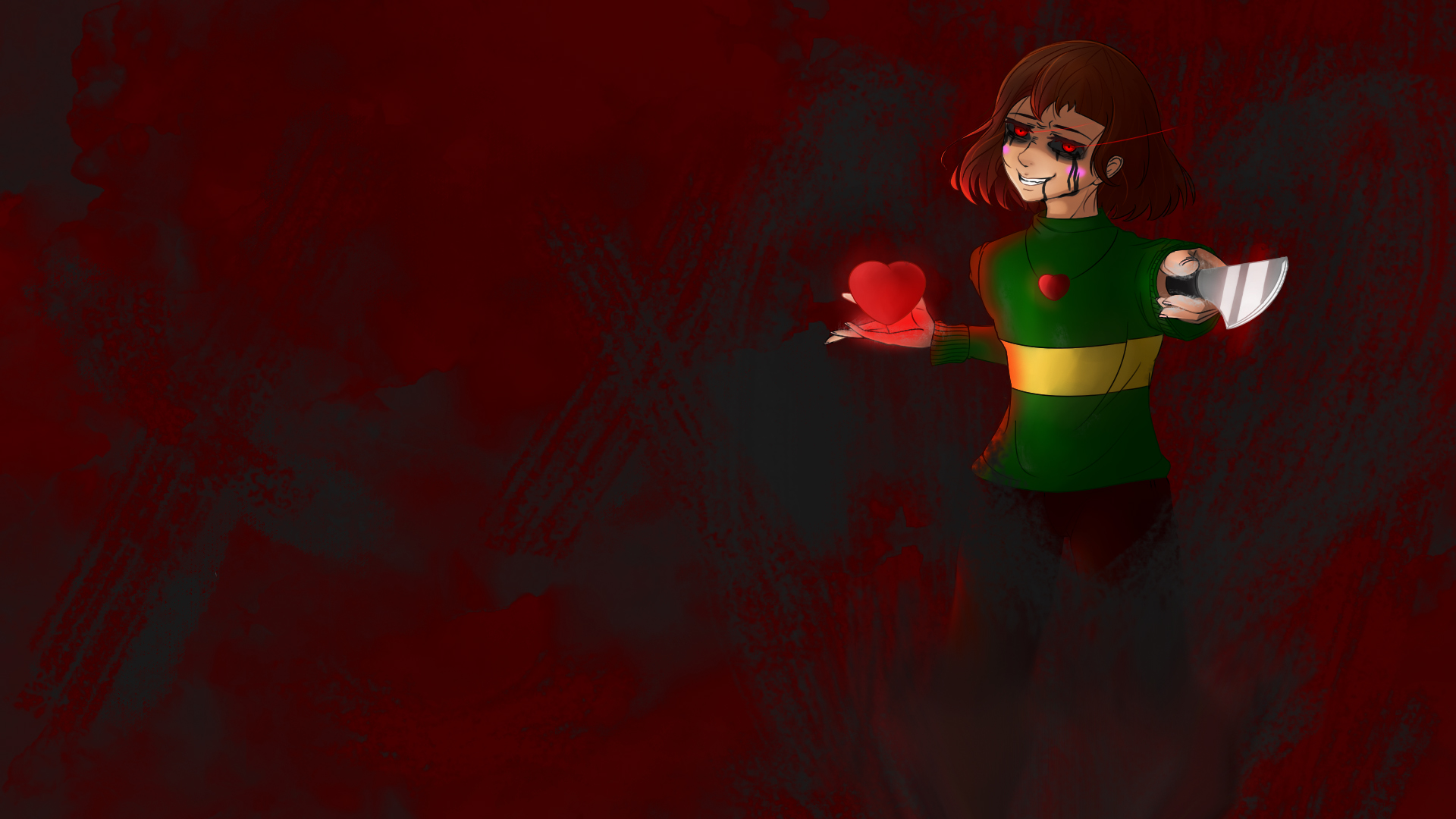 Chara The World Is Ending Undertale Wallpaper By Digitalcoldi