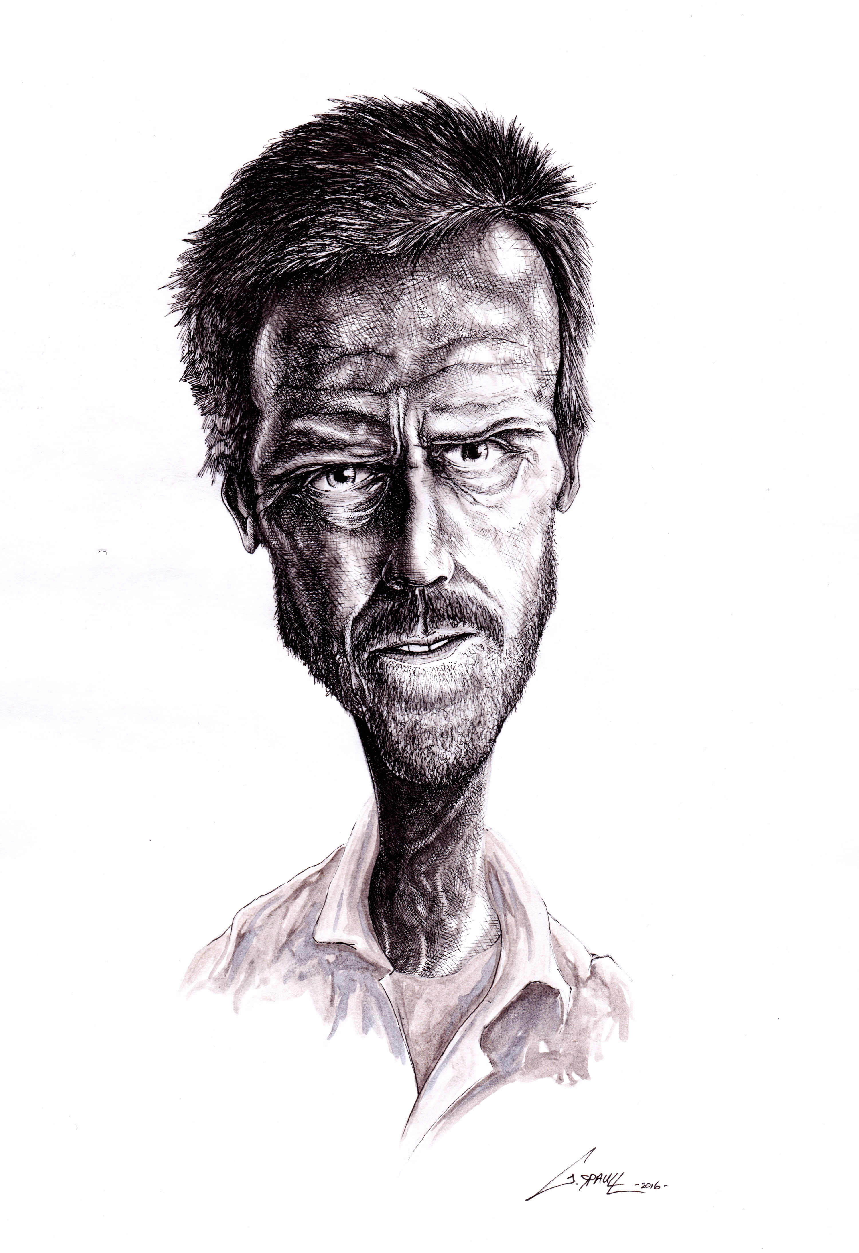 Hugh Laurie 'Caricature'