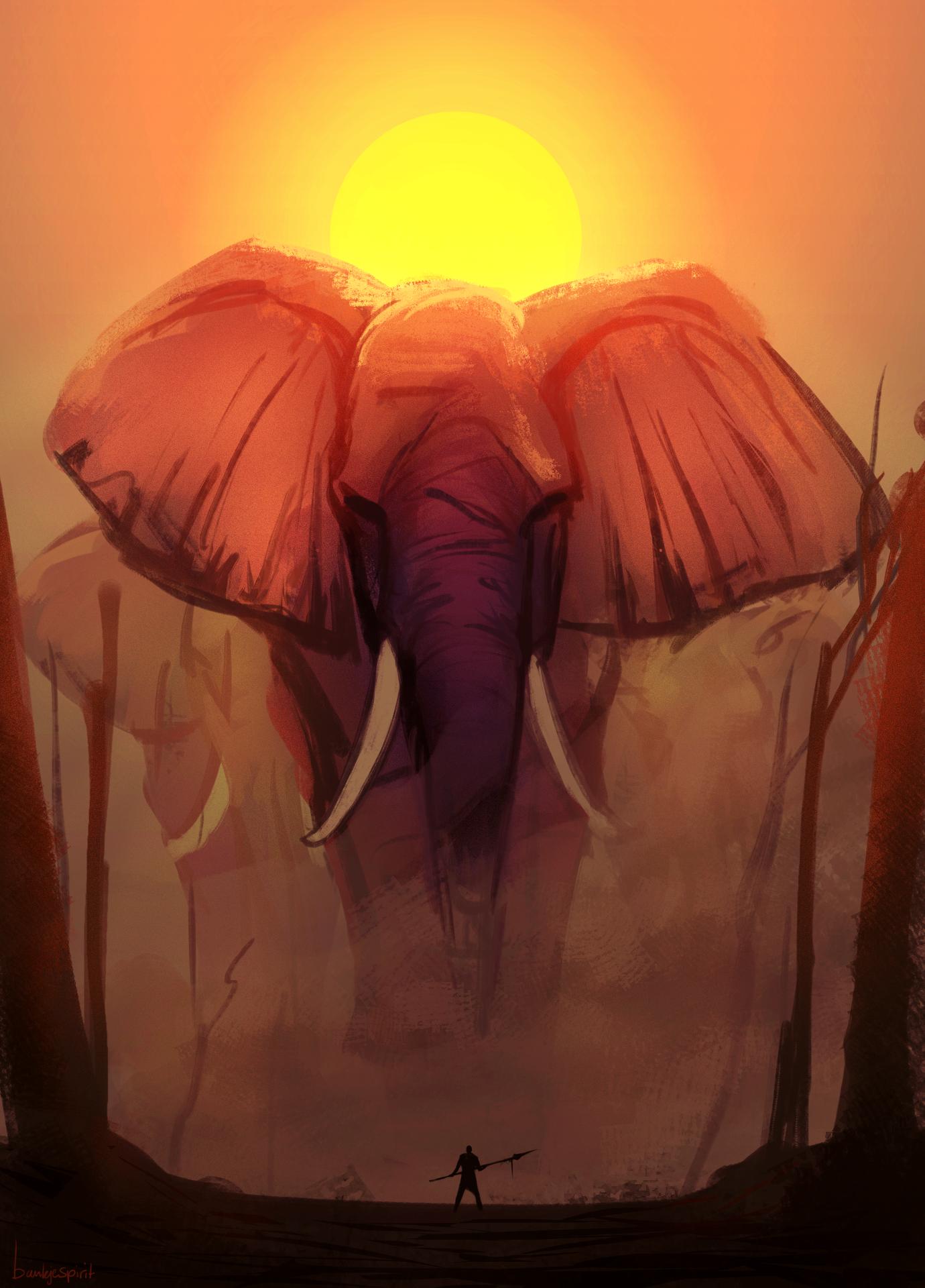 Elephant Walk - speedpainting