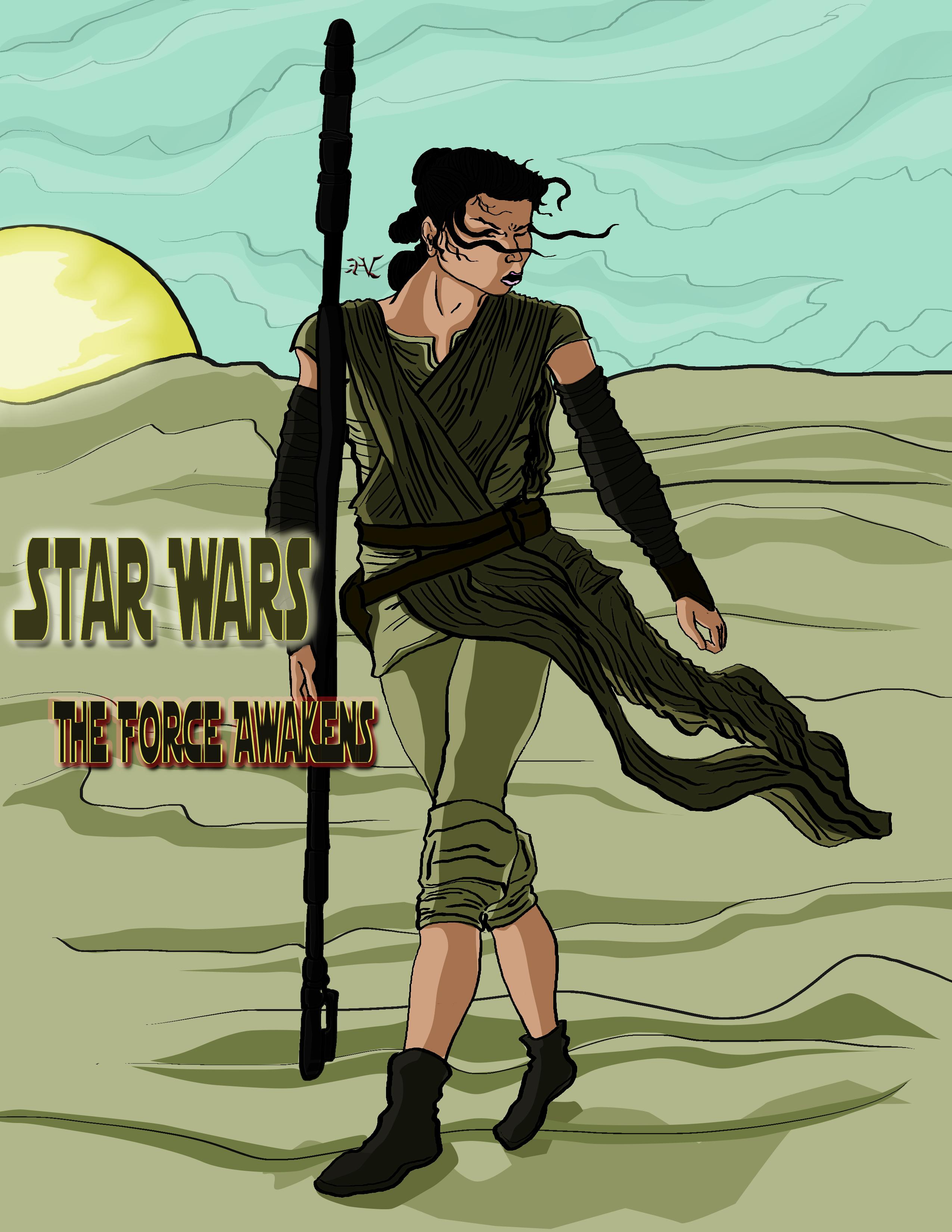 Star Wars the Force Awakens: Rey Tribute