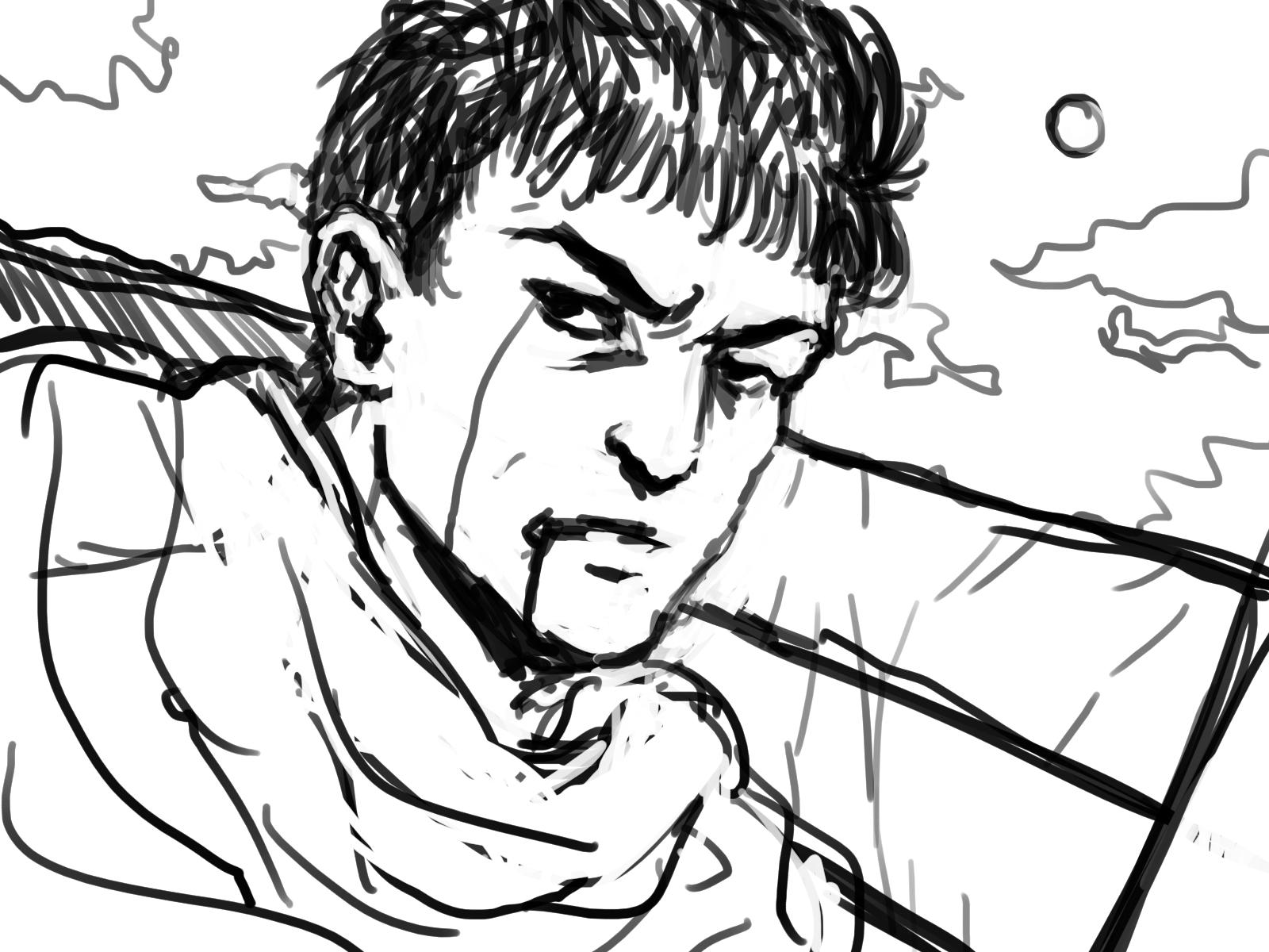 Sunday Sketch 03 (Guts from Berserk)