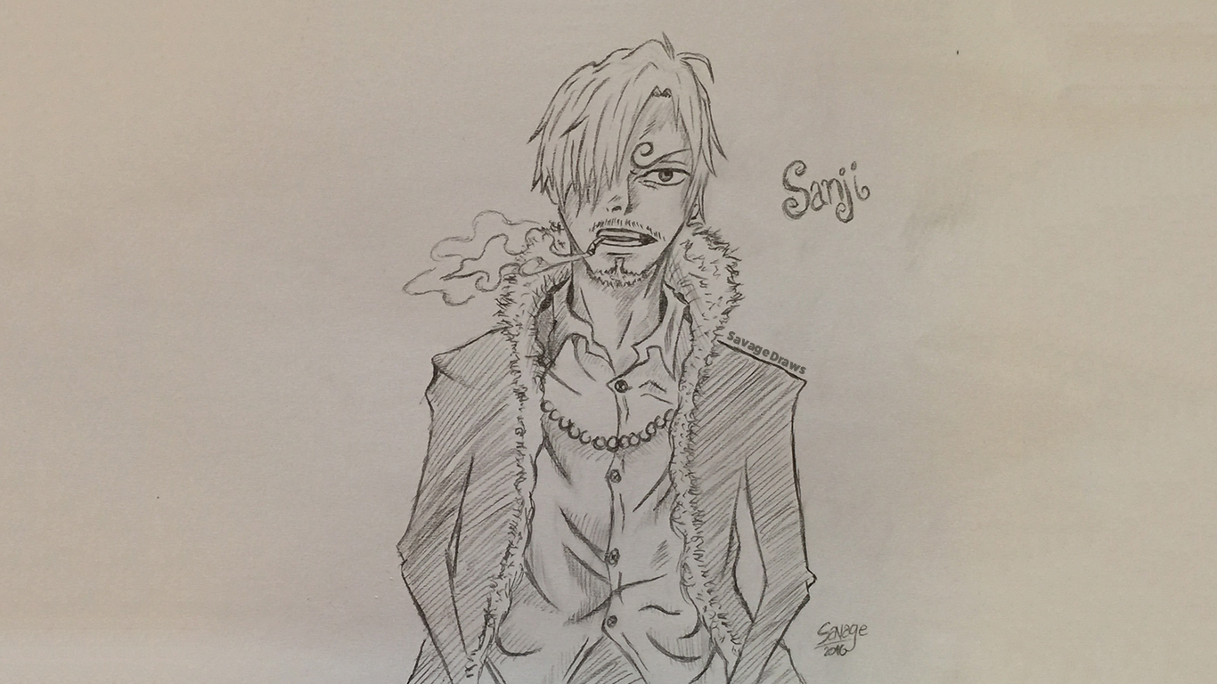 Drawing Sanji from One Piece