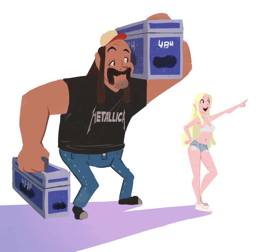 Roadie and his pop star