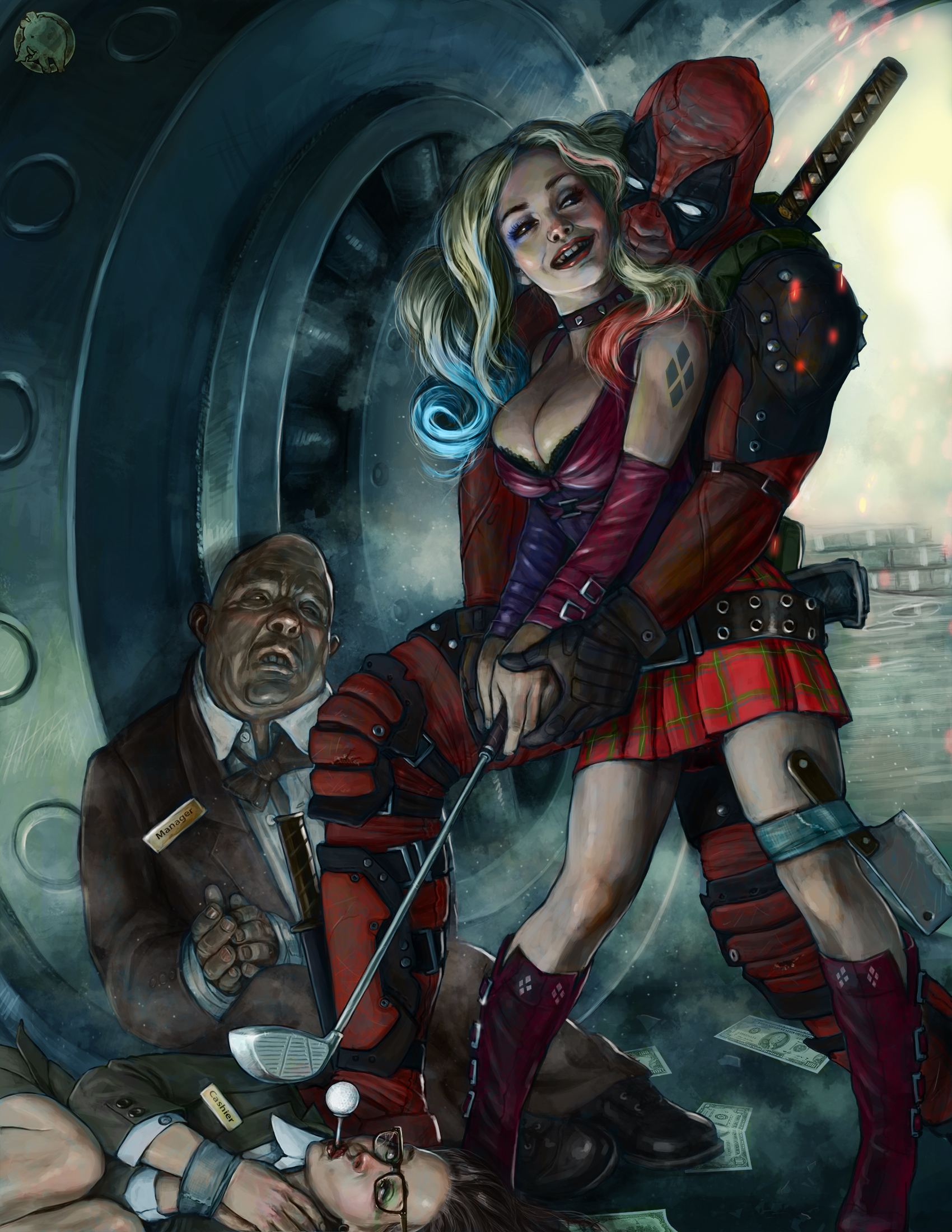 Harley and Deadpool crazy love