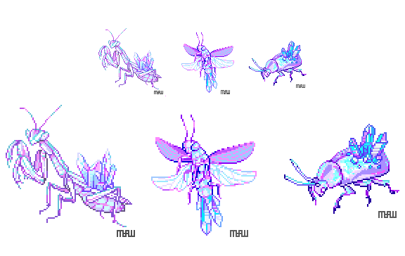 crystal insects