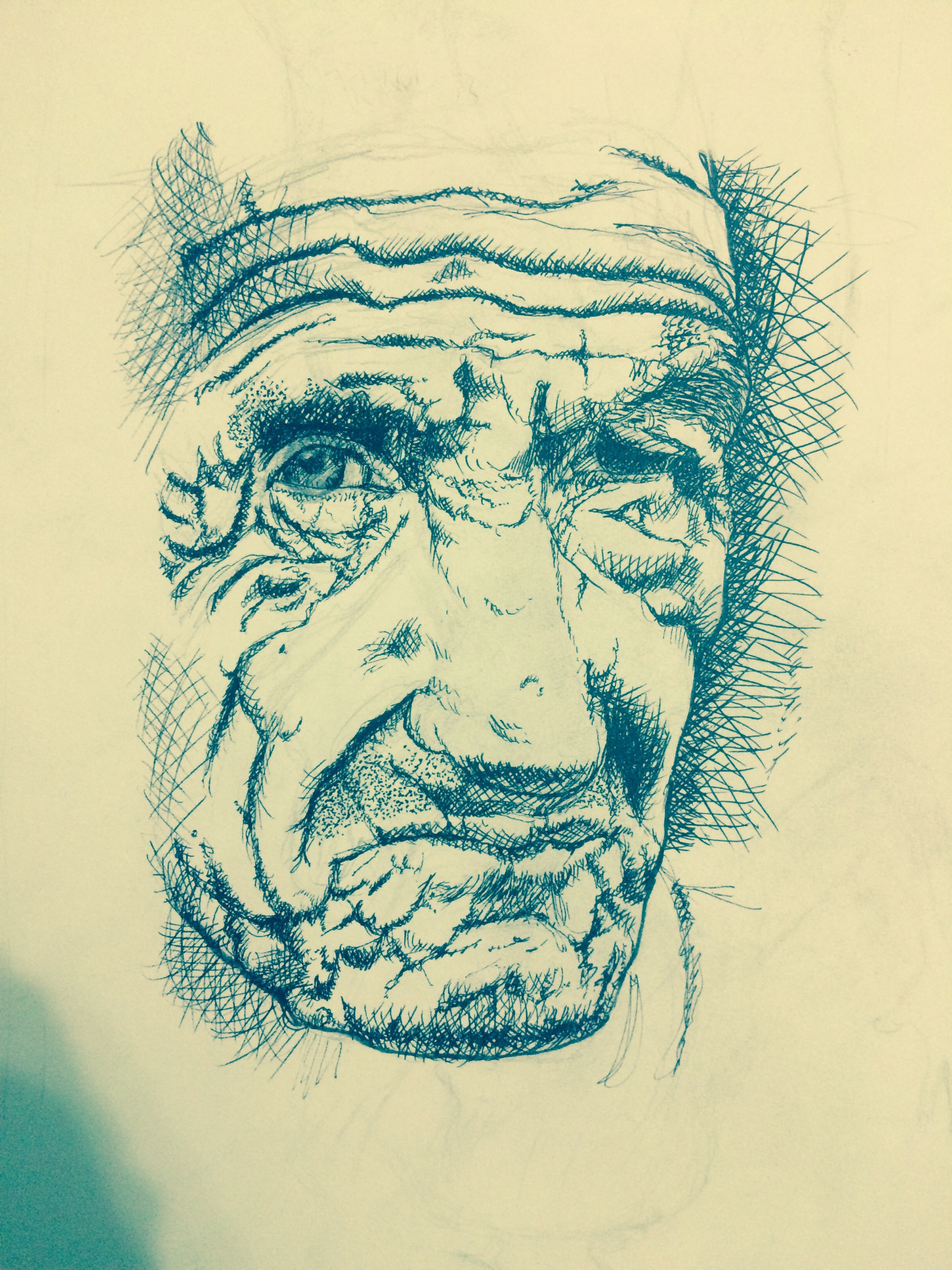 Old man's face