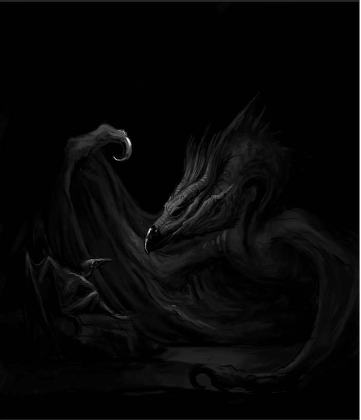 (old work) Axius meets a dragon.