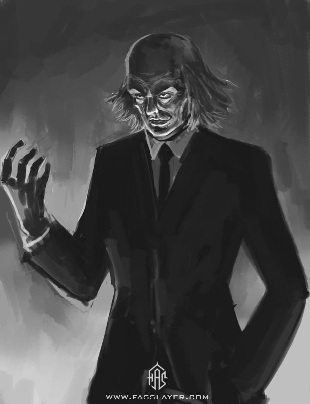 Evil business man
