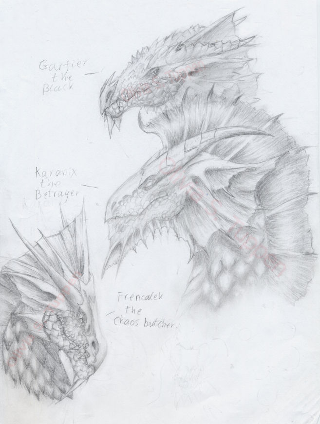 Dragons of the dark scale