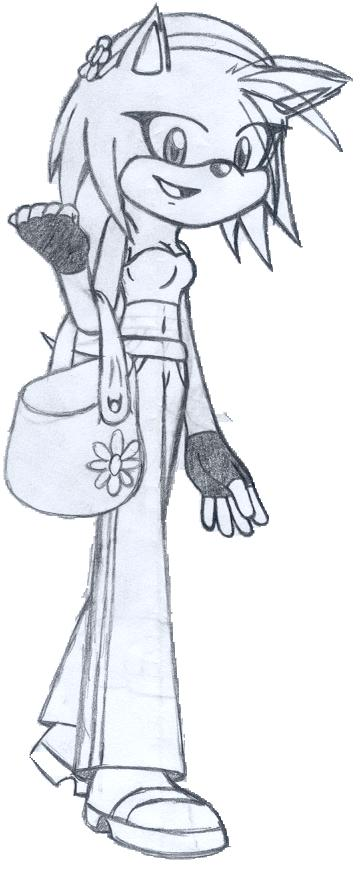 Amy Rose(not coloured)