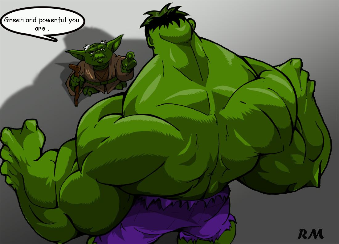 Yoda and Hulk