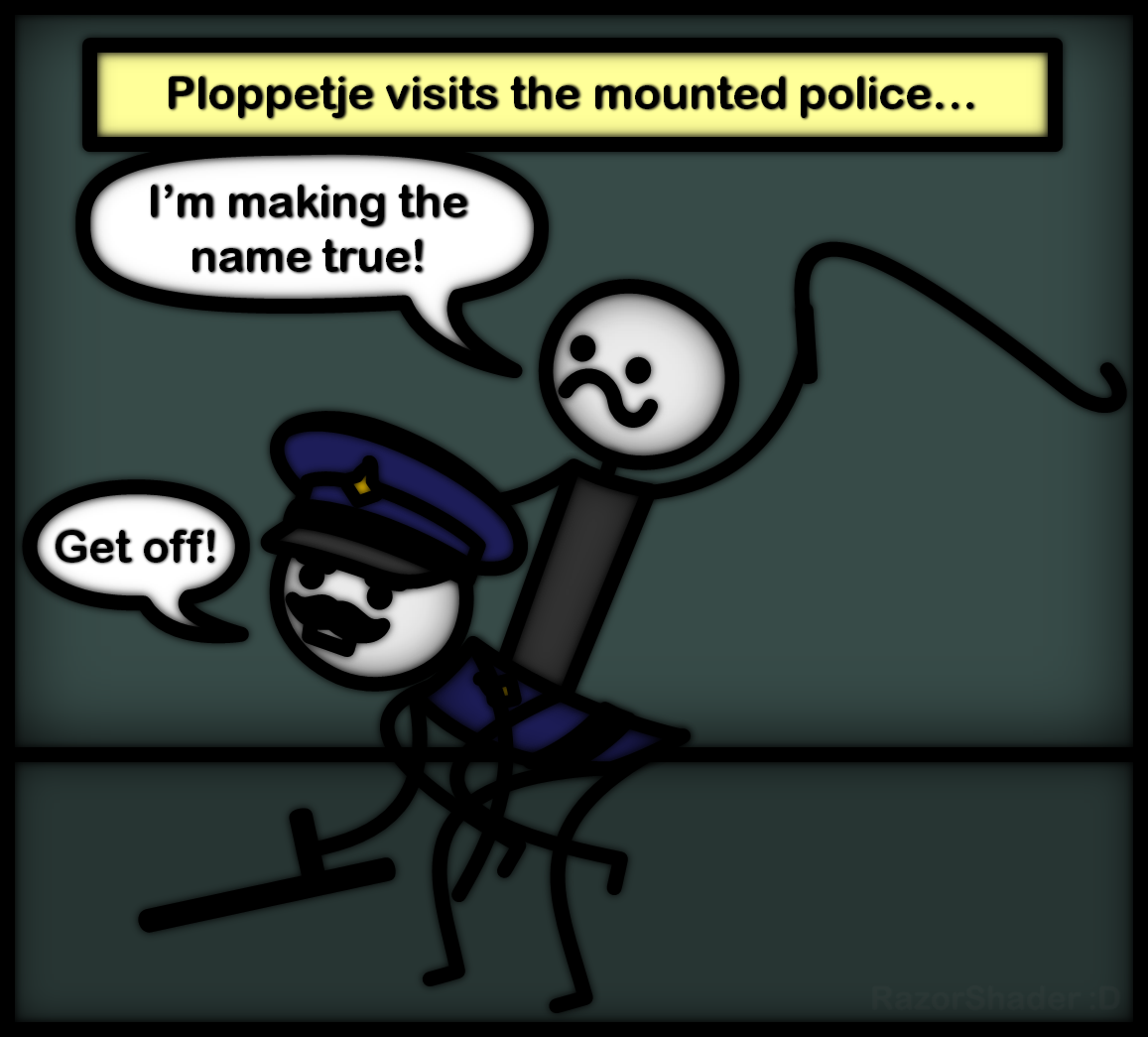 Ploppetje and the mounted police