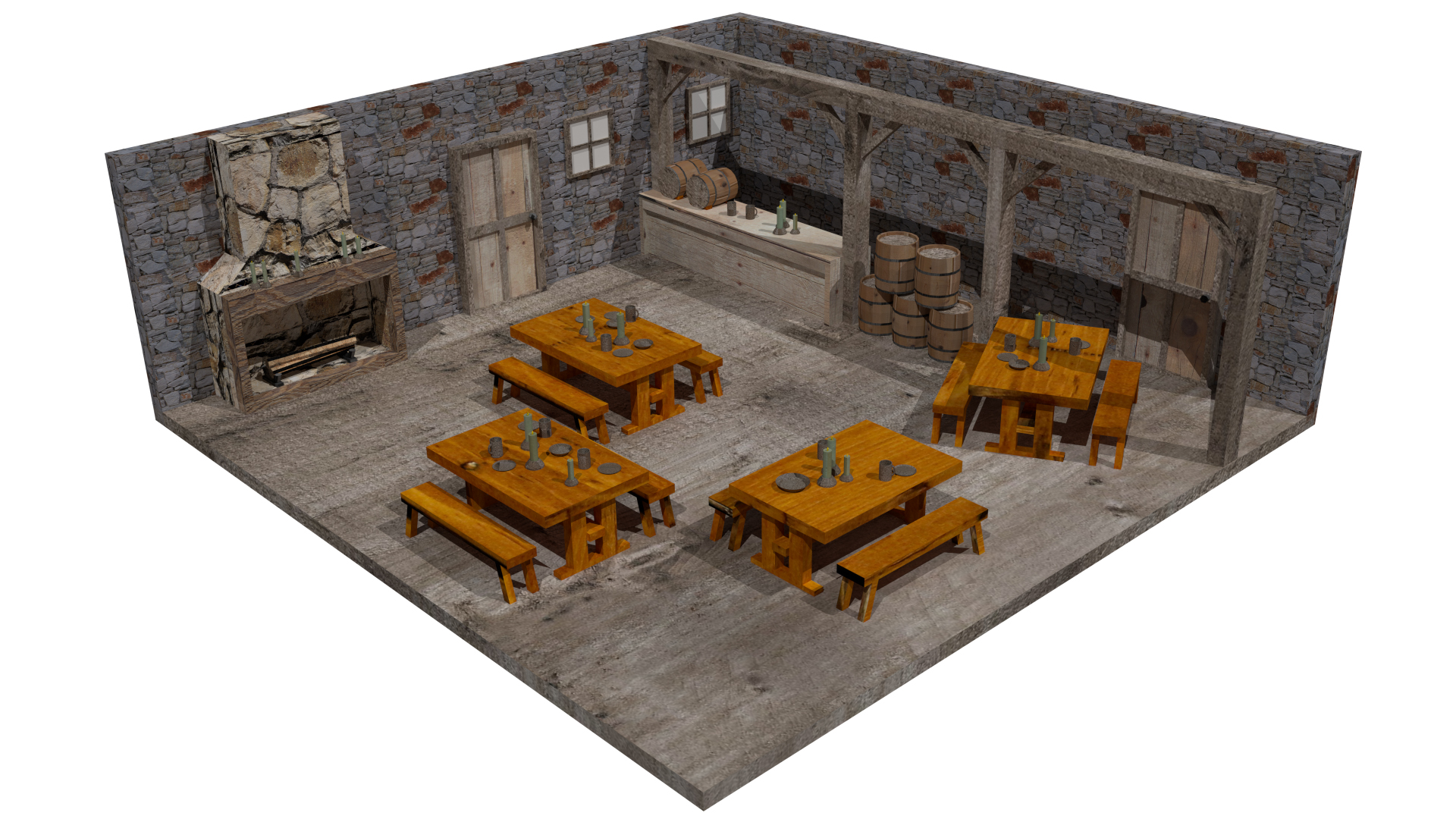 Old World Tavern Interior