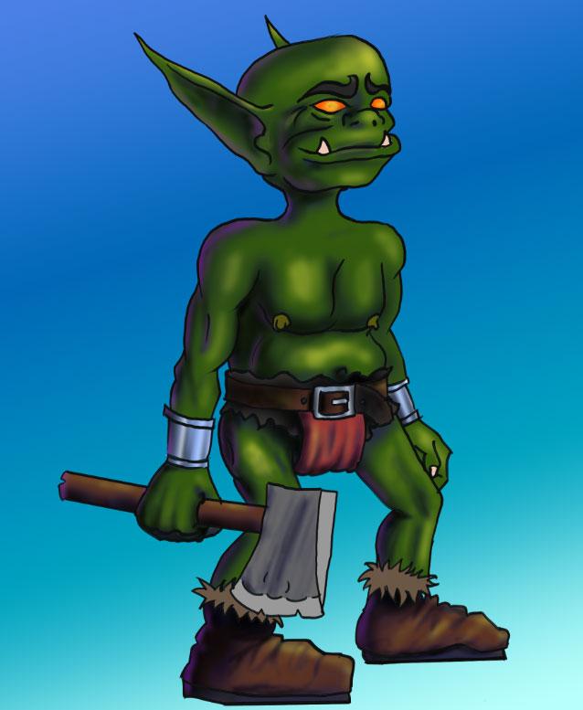 Goblin with an axe