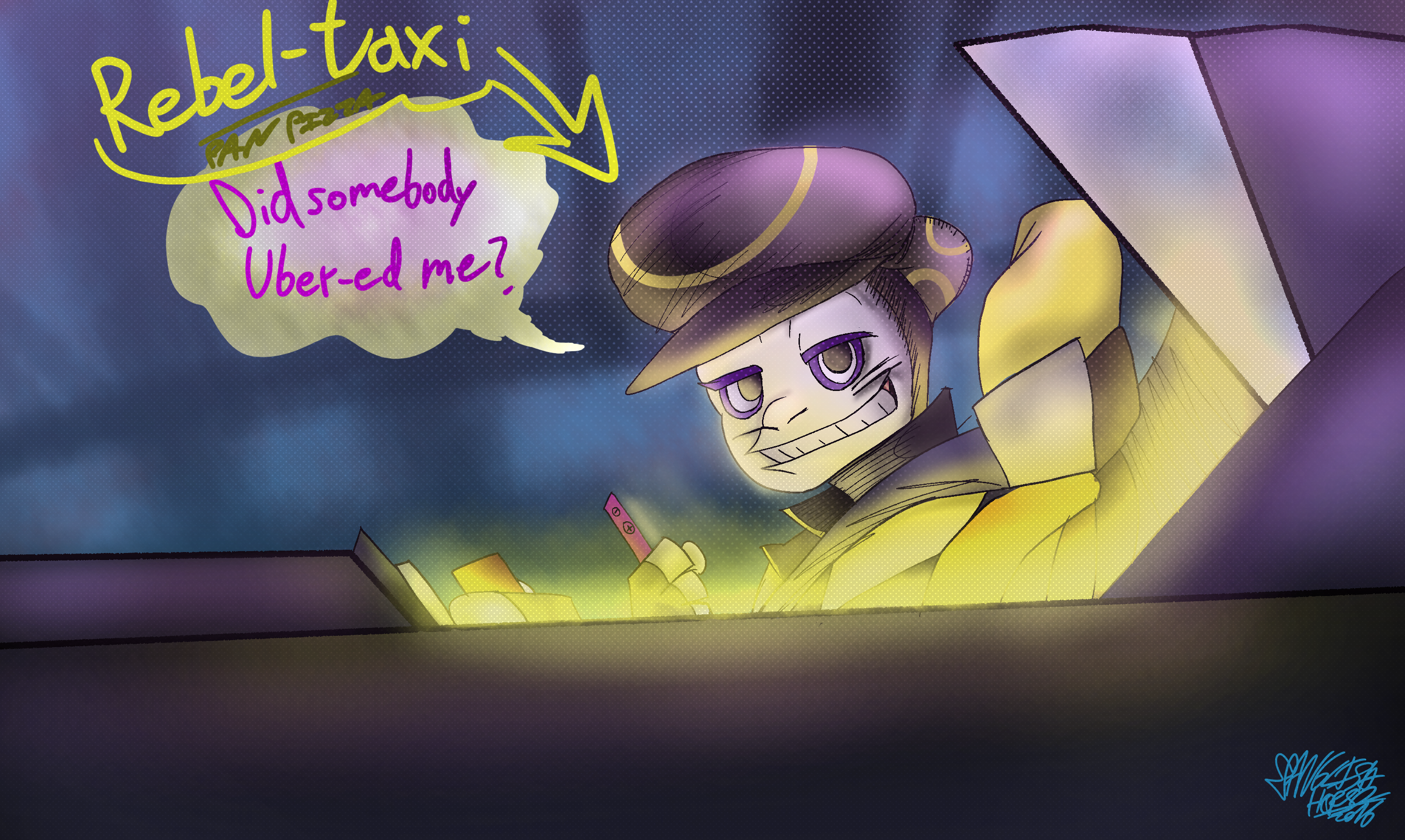 Pan Pizza Party Rebel-Taxi 12 03 2016