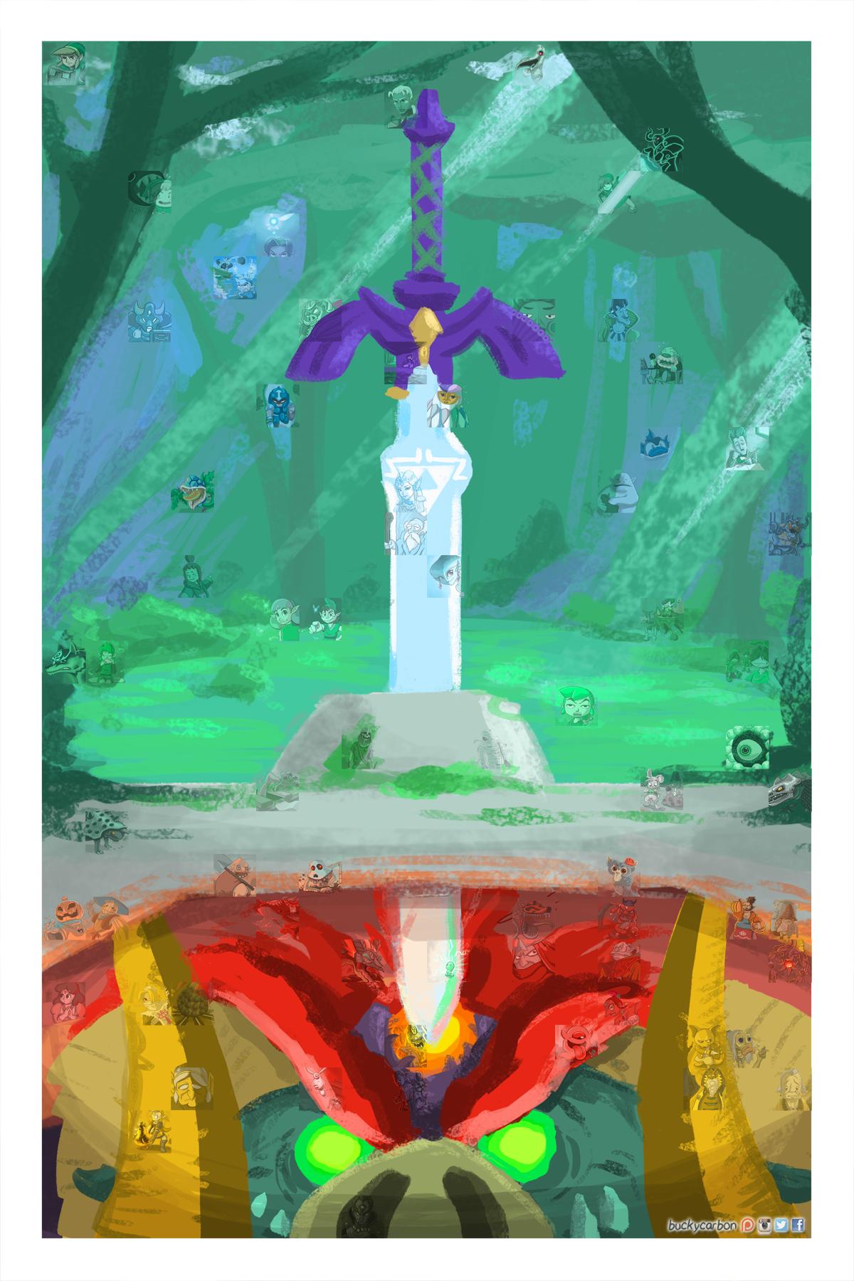 #ZeldaChallenge Poster Progress Update