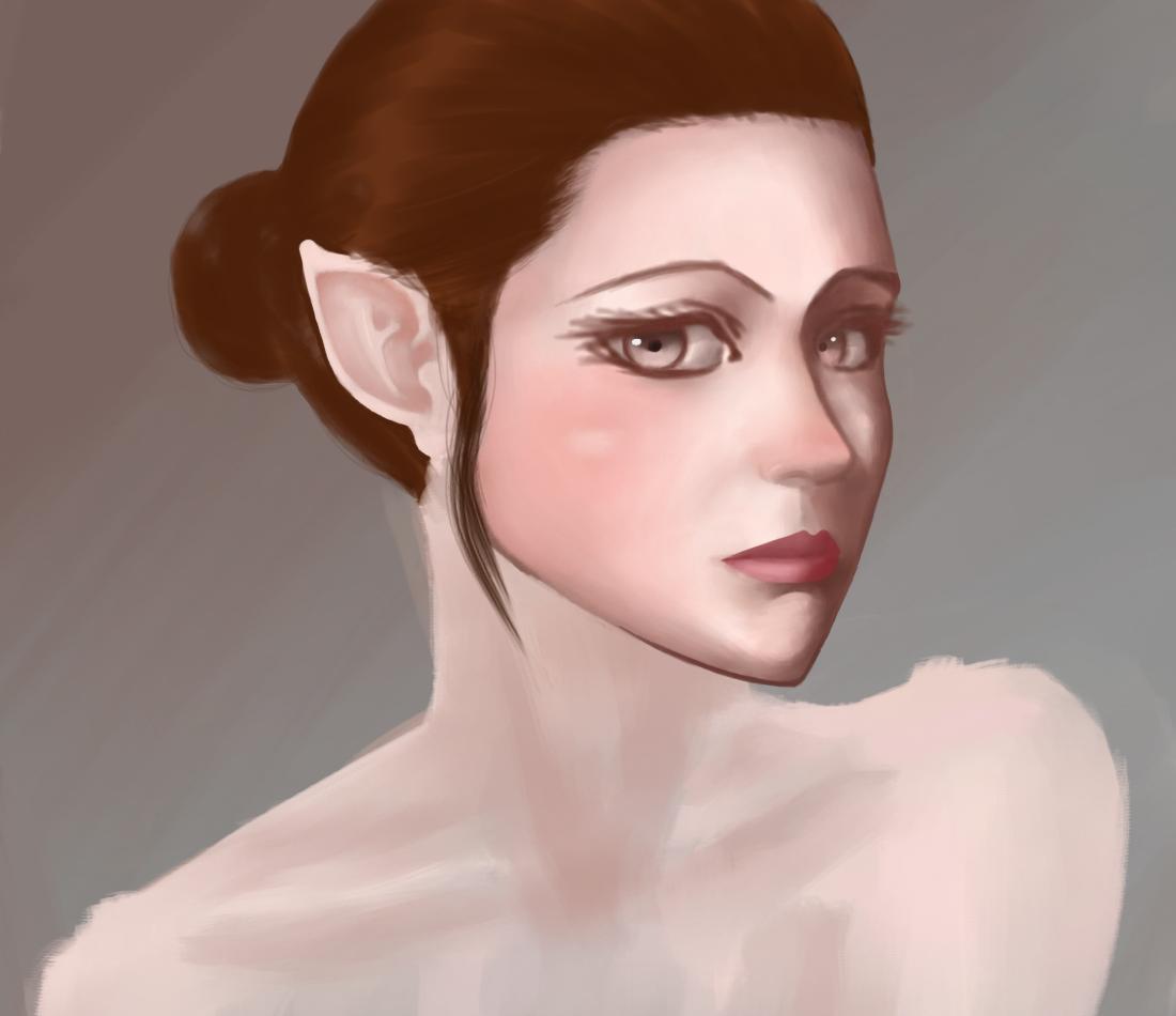 elf portrait wip