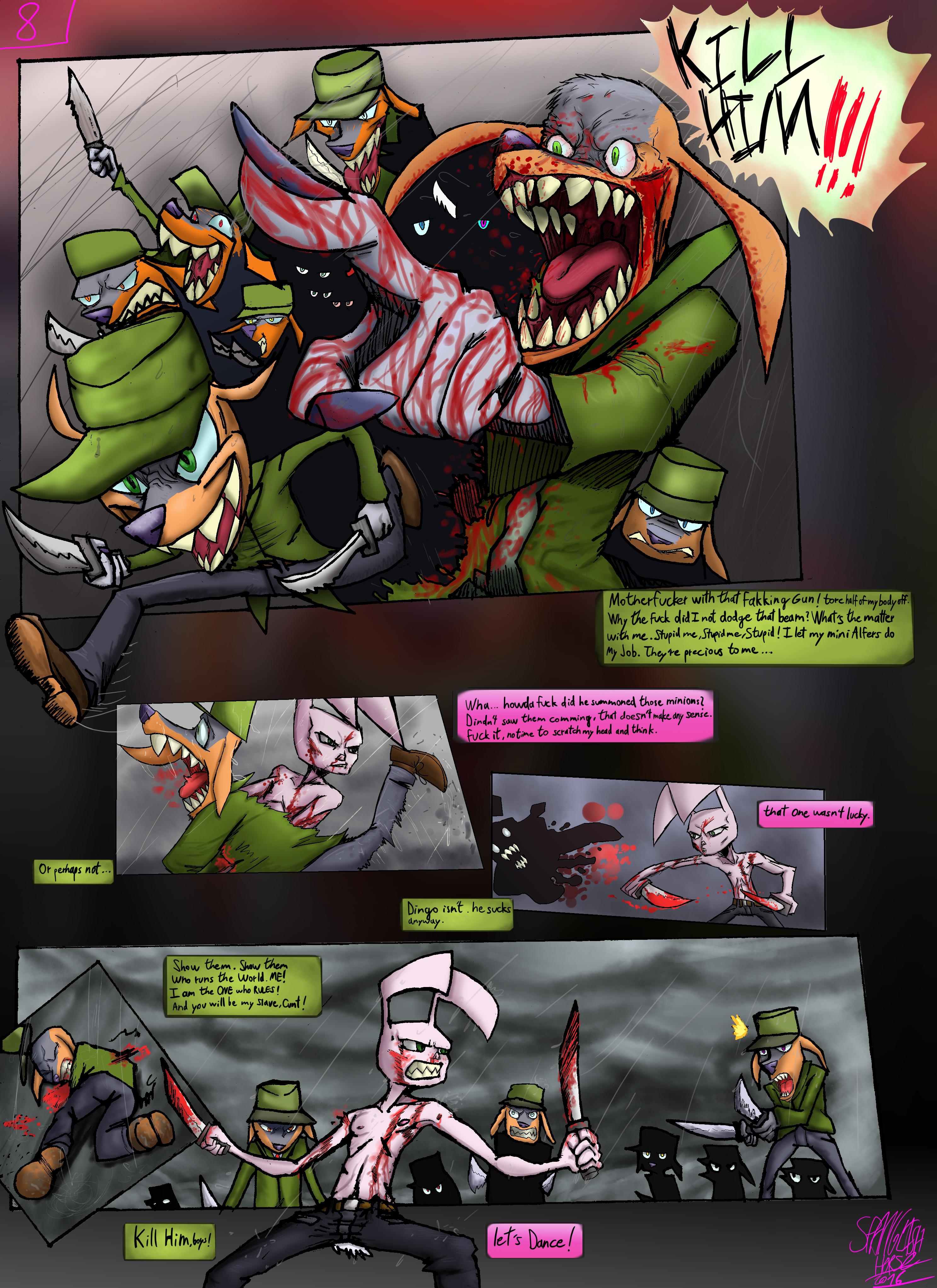 Bob the Psycho Rabbit Vs Alfred Alfer Page 8 (comic) (8/39)