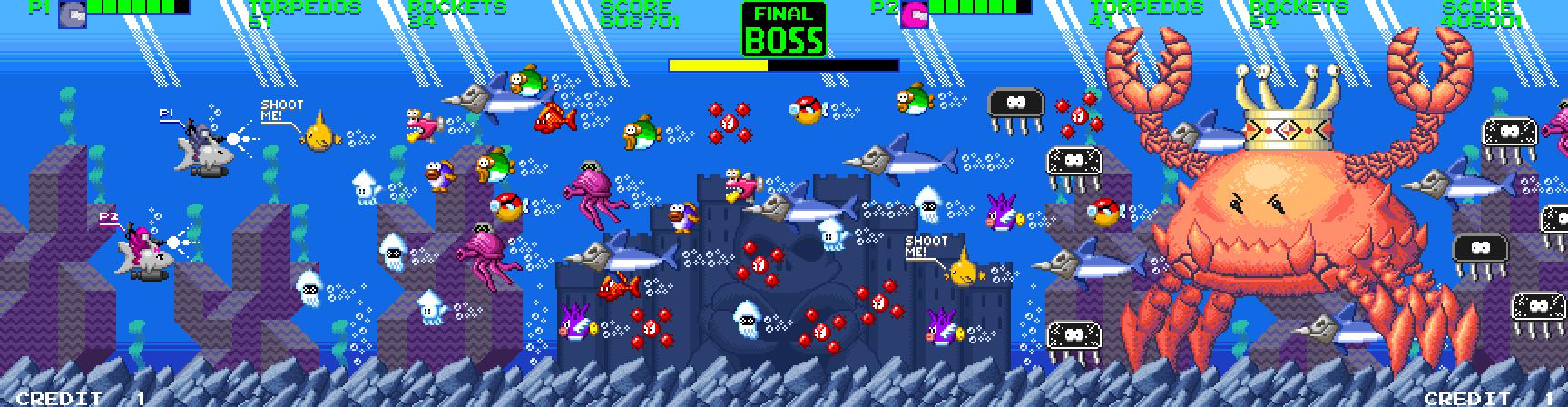 Ultimate Crab Battle 2 Demake fan art