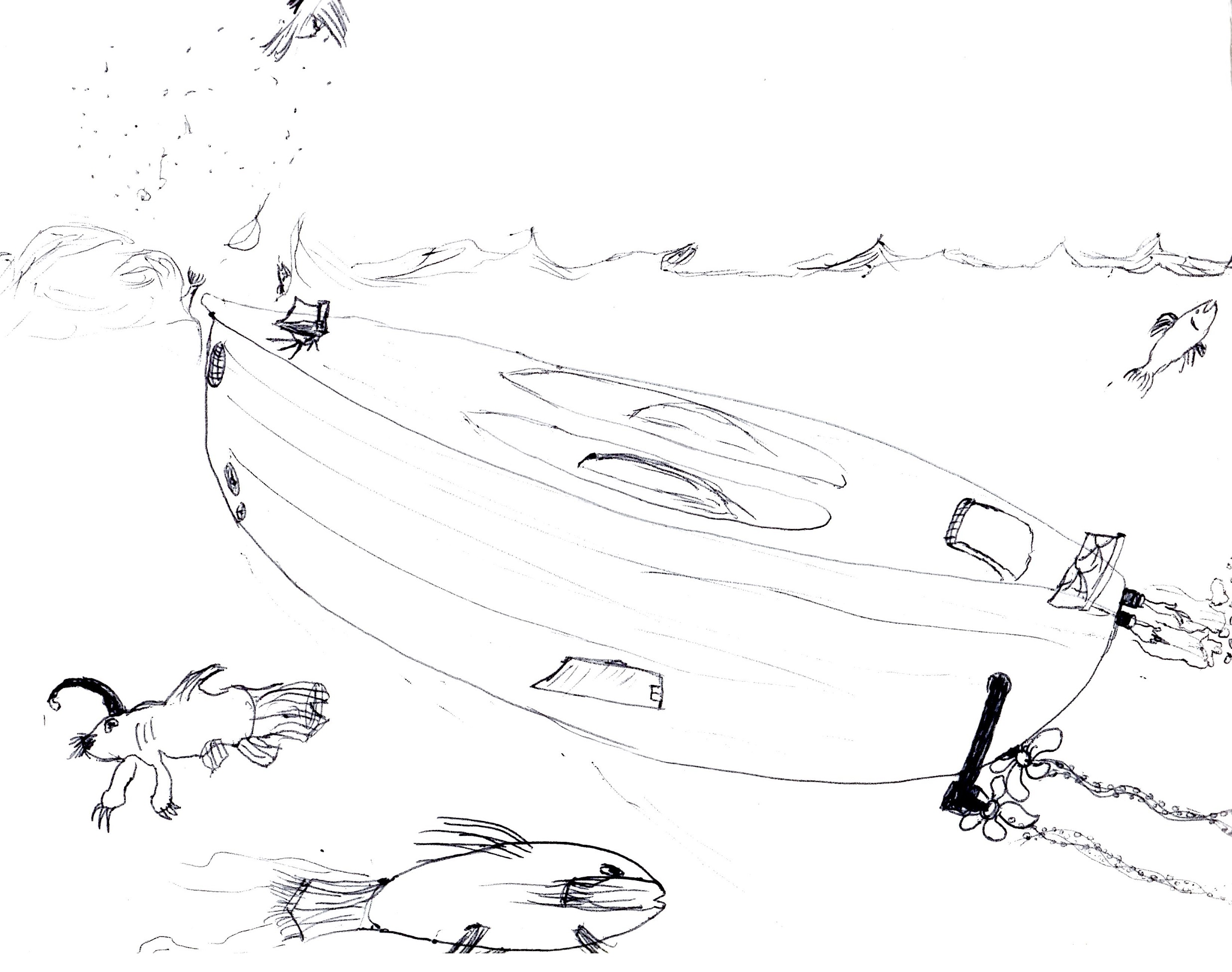 Low-Rider Submarine Sketch
