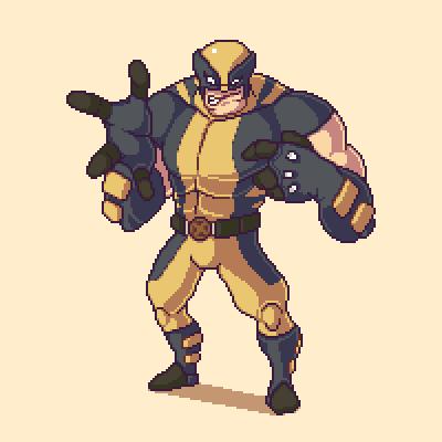 Pixel Wolverine