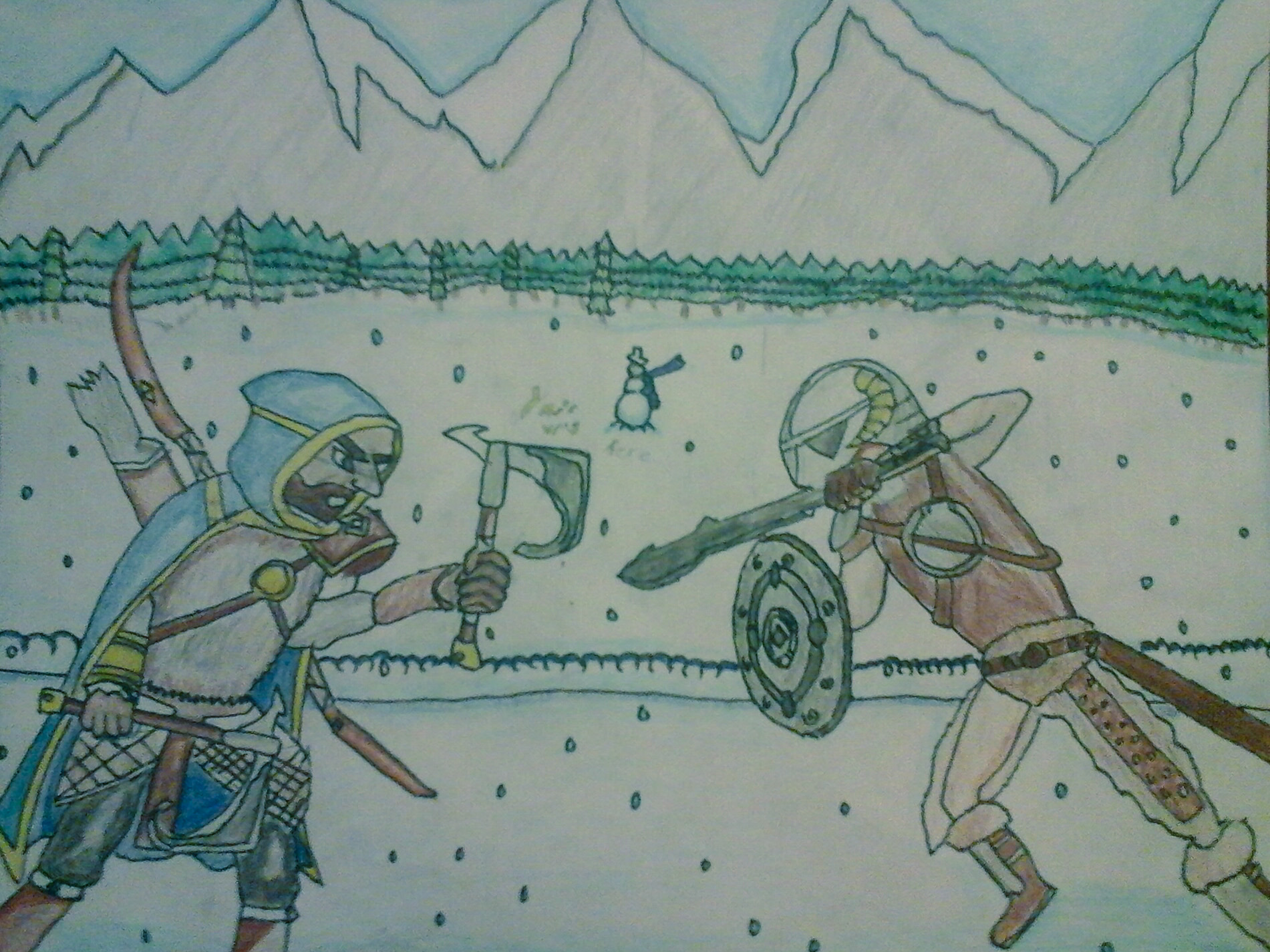 Deadly winter duel