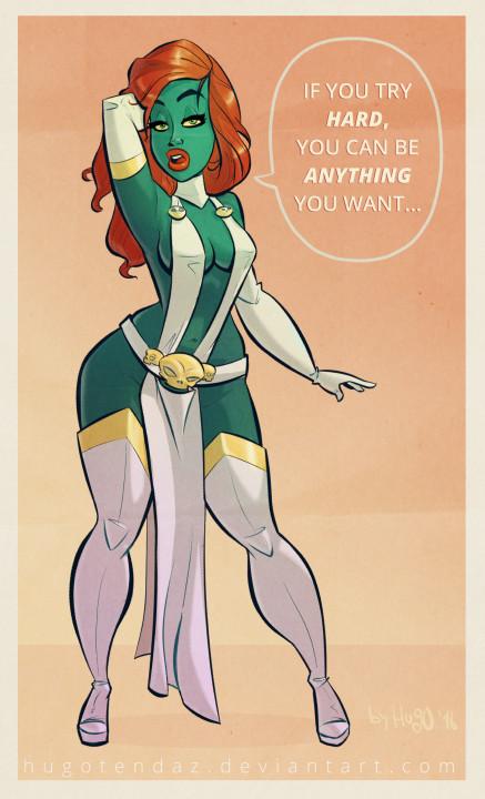 Mystique X-Men - Pinup Cartoon