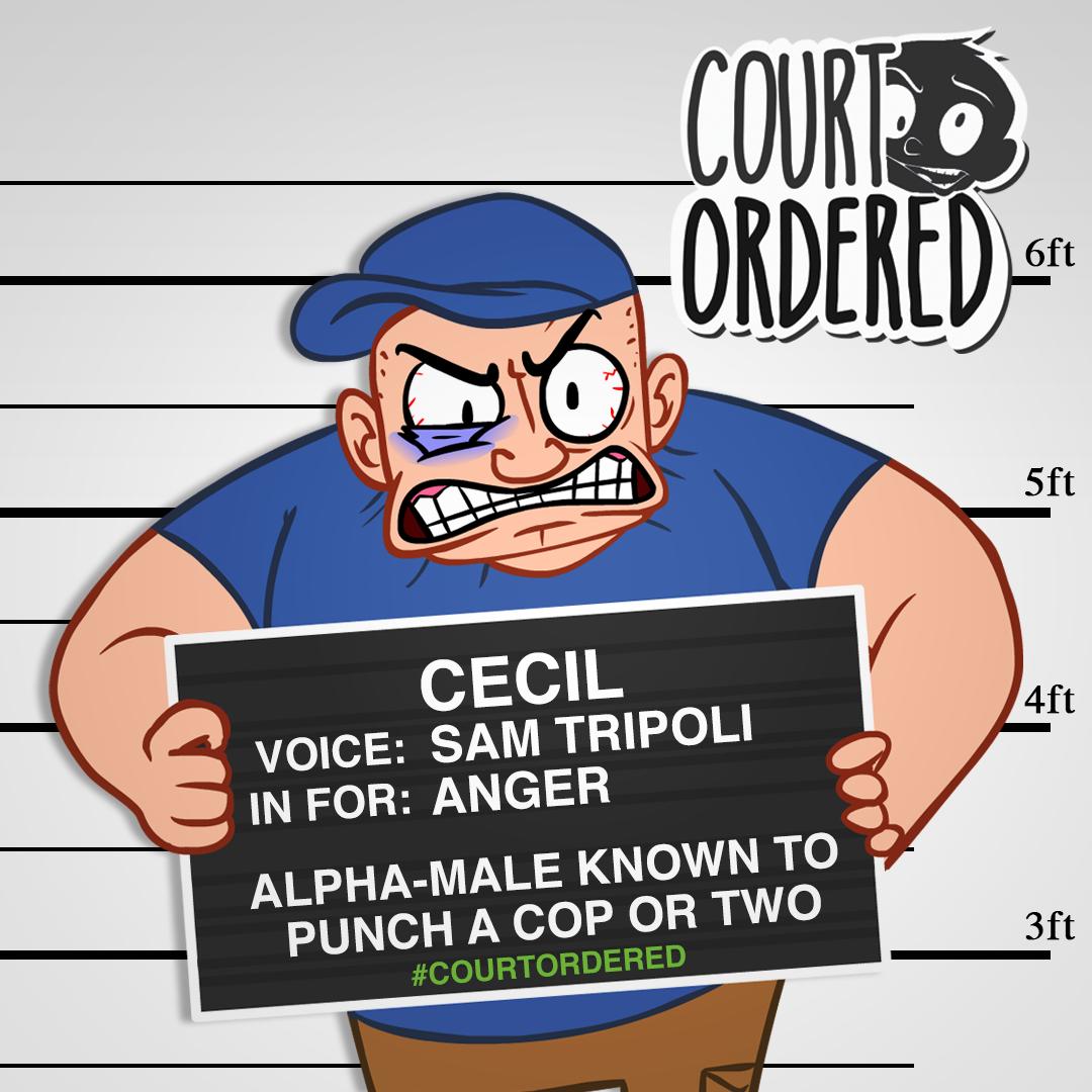 """Court Ordered"" - Cecil Mugshot"